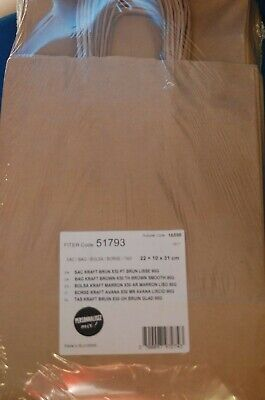 Strong Brown Twisted Handle Paper Bags | Carrier/Ribbed/Gift/Fashion/Party/Kraft