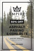 ASPHALT PAVING SPRING SPECIAL ON NOW!!!!