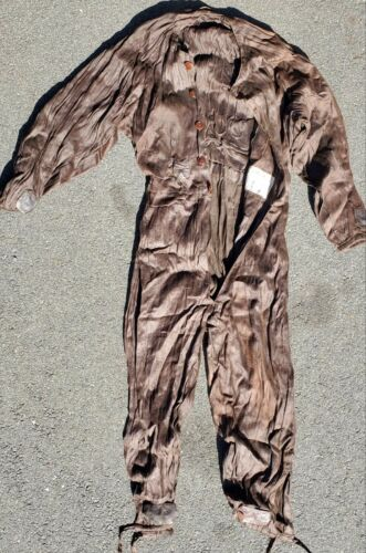 """FRENCH 1937/1938 PILOTS """"NOS"""" ONE PIECE ELECTRIFIED FLIGHT SUITS"""