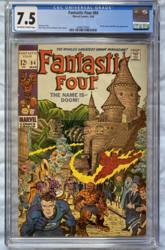 Fantastic Four 84 CGC 7.5 Dr. Doom Appearance Silver Age Marvel Kirby/Lee 1969