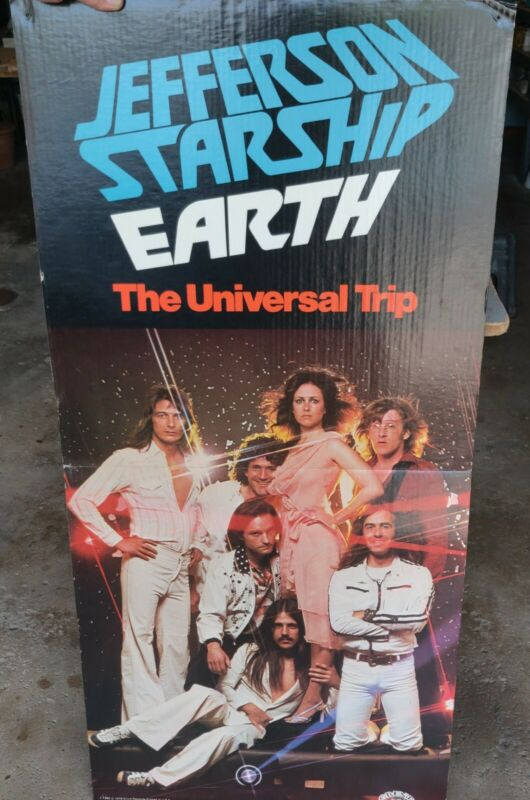 Jefferson Starship Earth BIG Easel Back Promo Store Display 1978