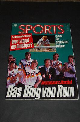 SPORTS Magazin 8/1990 - Beckenbauers Abschied - Das Ding von