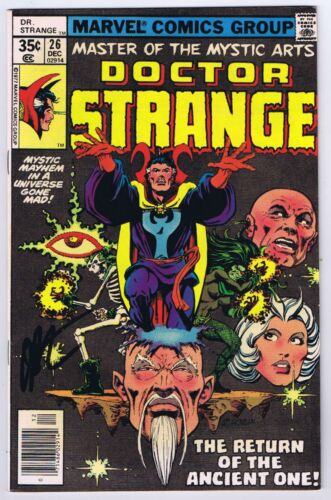 Doctor Strange #26 VF+ Signed w/COA Jim Starlin Dr. Strange 1977 Marvel Comics