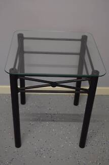 Glass bedside or lamp table
