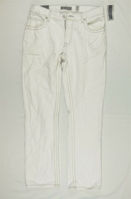 Inc White Mens Size 32x30 Berlin Slim Straight Leg Denim Jeans ...