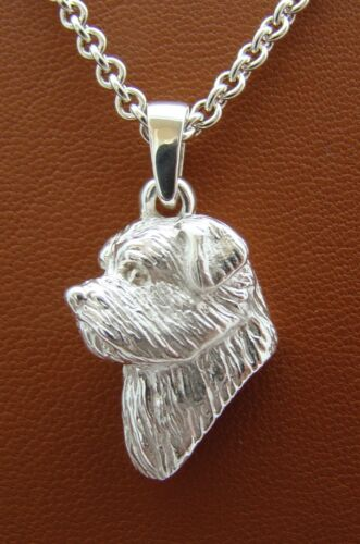 Sterling Silver Norfolk Terrier Head Study Pendant