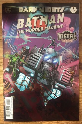 MURDER MACHINE #1 FOIL 1st Print NM Batman Dark Nights Metal Tie-In DC Comics
