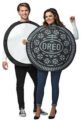 Paar Kostüme Oreo Cookie Erwachsene Herren Damen für Sie & Ihn Halloween Lustig ()