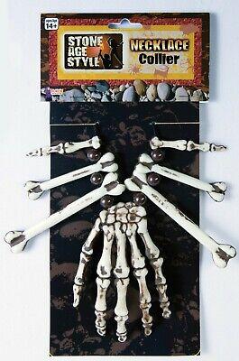 Stone Age Caveman Hand and Bones Necklace VooDoo New by Forum 74900 - Caveman Bone Necklace