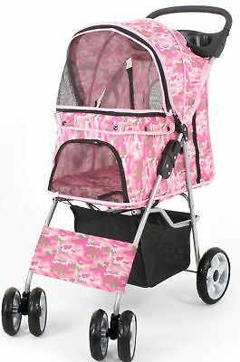 four wheel pet stroller cat and dog