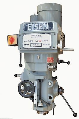 Eisen S-4ah Milling Machine Head Nt40 Spindle Taper 5 Hp 220v 3-phase