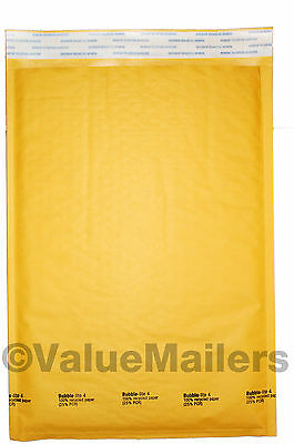 100 4 9.5x14.5 Bubble - Lite Kraft Bubble Mailers Padded Envelopes Bags