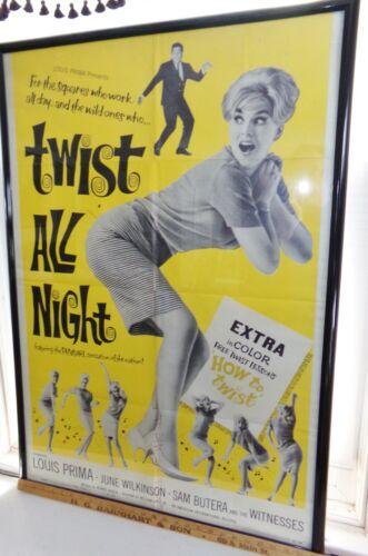"original 1962 movie poster, ""Twist All Night"", Louis Prima, 41"" x 27"""