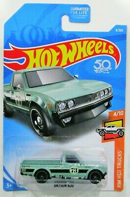 Hot wheels 2018 hw hot trucks datsun 620 green #9 / 250 htf