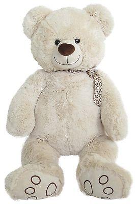 Wagner 9036 - XL Plüschbär Teddy Bär 55 cm groß weiss Teddybär Kuschelbär riesen