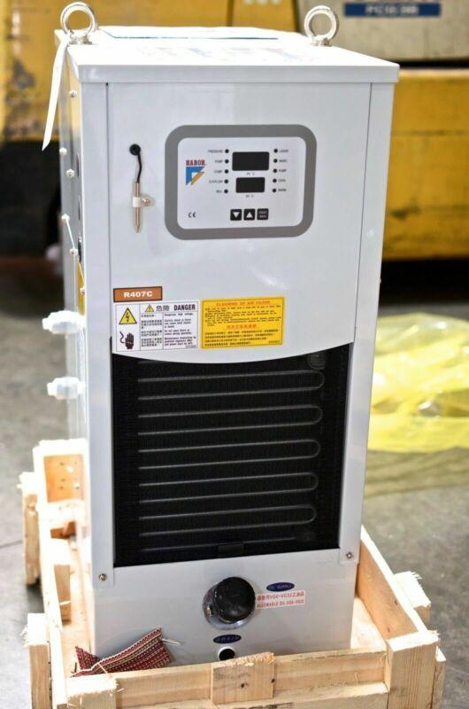 Spindle Oil Cooler, Oil Chiller for CNC,4000 BTU, HABOR HBO-250PTSBM9, 220V, 3PH