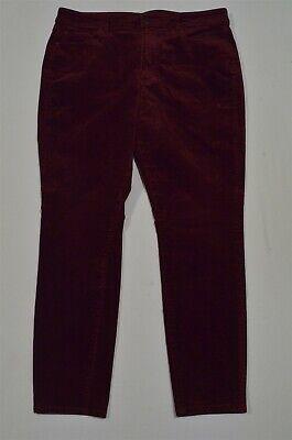 Ann Taylor 12 Dark Red Velvet Skinny Curvy 5 Pocket Pants Velvet 5 Pocket Pants