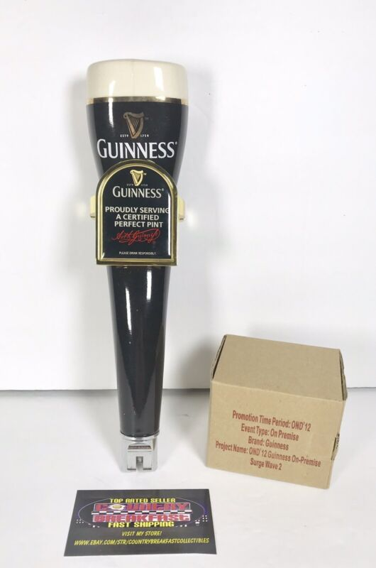 """Guinness Draught Irish Stout Perfect Pint Beer Tap Handle 11"""" Tall - Used RARE!"""