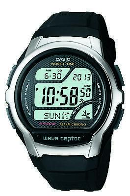Casio Wave Ceptor Men's Quartz World Time Black Resin 42Mm Watch Wv58a-1Av