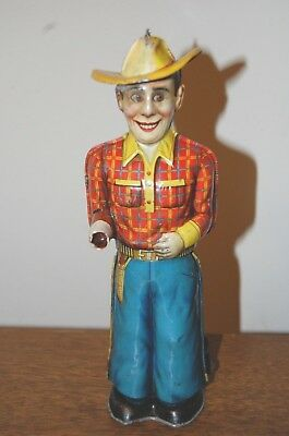 Technofix 1950 Tin Cowboy Toy Vintage Antique 259 Made in Germany