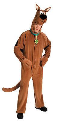 Scooby-Doo Maskottchen Kostüm Erwachsene Plüsch Luxus Halloween Hund ()