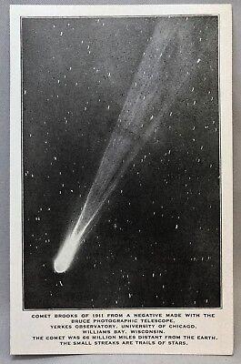 1911 COMET BROOKS U of Chicago WILLIAMS BAY Wis Yerkes OBSERVATORY Postcard