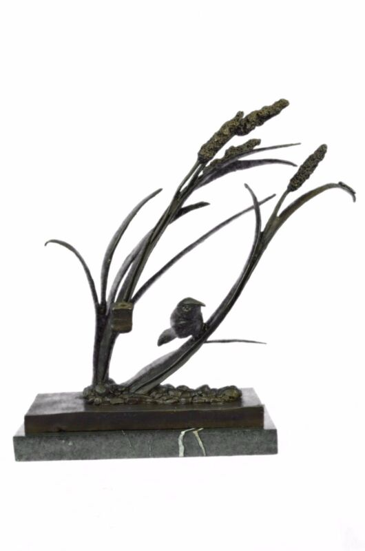 Vintage Cold Painted Bronze Dove/Pigeon Figurine Mother Sculpture Statue Figure