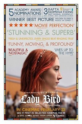 Lady Bird Movie Poster (24x36) - Saoirse Ronan, Laurie Metcalf, Tracy Letts v2