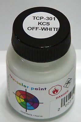KCS OFF-WHITE TRU-COLOR AIR BRUSH READY PAINT N HO O On30 Model Railroad TCP3012