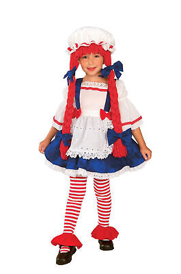 Rag Doll Girl Child Dress Costume Halloween Storybook Fancy Dress Up Rubies