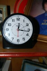 alarm clock  elgin black analogue