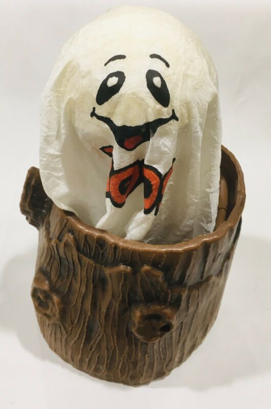 1990 Great American Fun Corp Animated Ghost Tree Stump Light Prop Motion Active