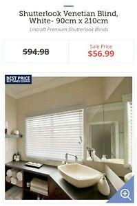 2 NEW White Venetian blinds