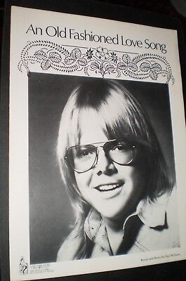 Vintage Sheet Music – An Old Fashioned Love Song (by Paul Williams) (1971)