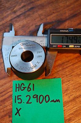 Mahr Federal 15.2900mm X Master Bore Gage Setting Ring Calibration Hole