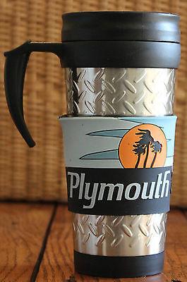 New 1968 Plymouth Road Runner Diamond Plate Travel Coffee Tea Mug with Handle