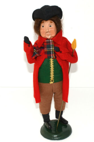 """Byers Choice Caroler * 1987 COLONIAL LAMPLIGHTER * Very Rare, 12 3/4"""", EXC!!"""