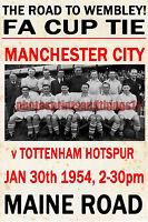 Manchester City - Estilo Vintage Partido Póster 1953/54 -  - ebay.es
