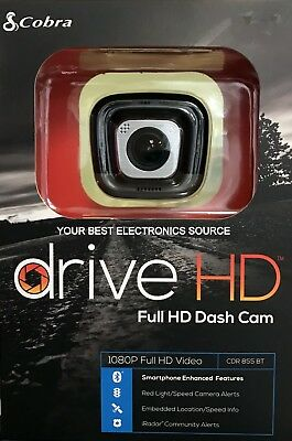 NEW Cobra CDR855BT Full HD Dash Cam, 1080p HD Video Camera