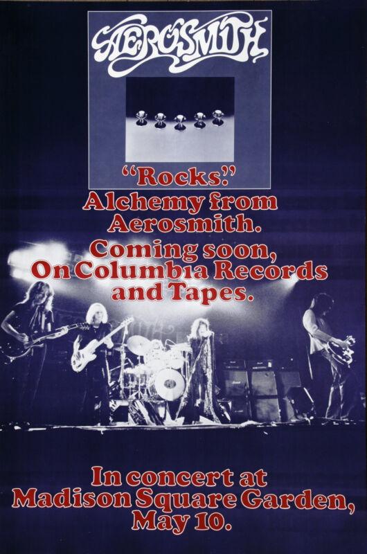 Aerosmith  Alchemy Rocks Rare  Vintage Original Concert Promo Tour Poster 1976