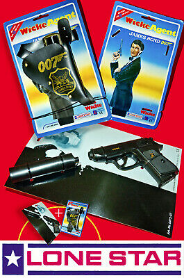 SET☆ LONE STAR WICKE JAMES BOND 007 HOLSTER ☆ WALTHER PPK AGENT TOY CAP GUN 90s