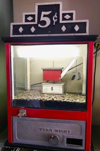 "5 Cent Countertop ""Digger"" Crane Arcade Amusement"