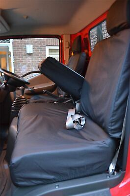 Tailored Black Driver Folding Passenger Seat Covers for Nissan Cabstar (2007 on)
