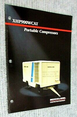 New Vintage 1990 Ingersoll Rand Portable Compressor Xhp900wcat Brochure Free Sh