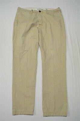 Abercrombie & Fitch 34 x 32 Khaki Twill Straight Chino Pants