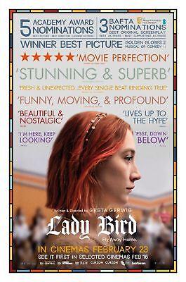 Lady Bird Greta Gerwig Saoirse Rona Movie Poster Silk Print 13x20
