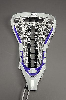 NEW STX Attak Attack Womens LAX Lacrosse Strung Head White Purple Retail $94.99