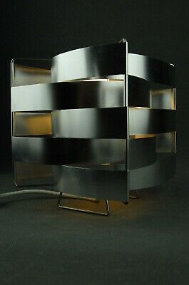 Vintage sheet metal can 70s retro space age design