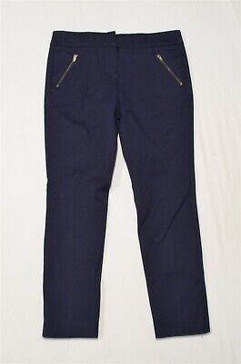 LOFT 4P Navy Blue Modern Skinny Ankle Petite Dress Pants