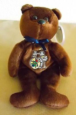 The Beatles 33 brown Celebrity Bears Mint MWMT  Bean Bag Plush